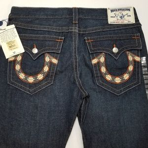 New True Religion Mens Bootcut Jeans 38x34